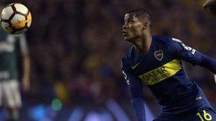 Wilmar Barrios, durante un partido con el Boca Juniors.