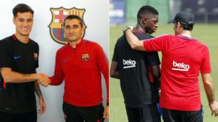 Valverde, con Coutinho y Dembélé, los dos fichajes más caros de la...