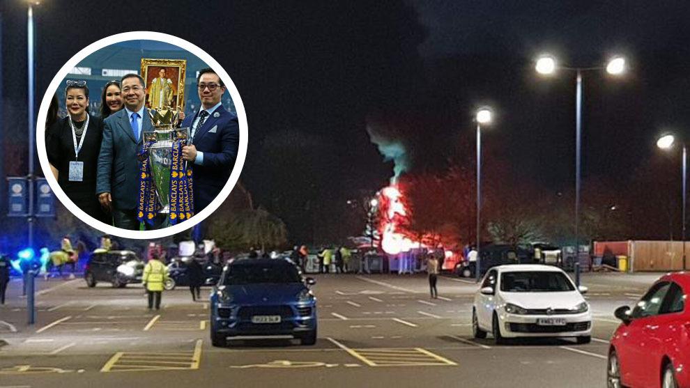Resultado de imagen para helicoptero del propietario del Leicester city