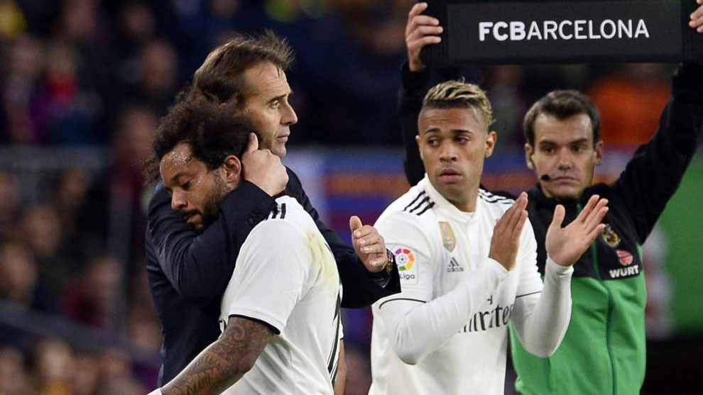 Marcelo and Lopetegui.