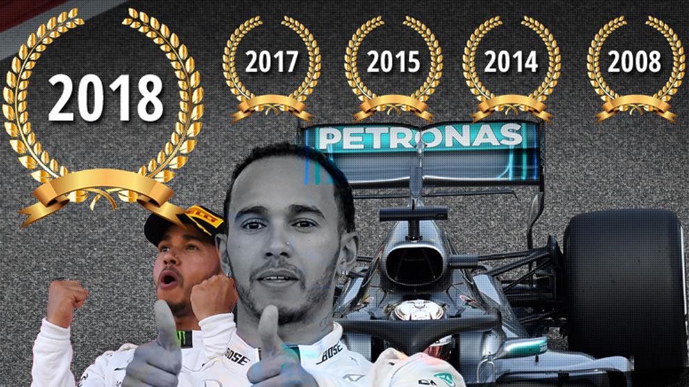 Lewis Hamilton se proclama pentacampeón del mundo de Formula 1