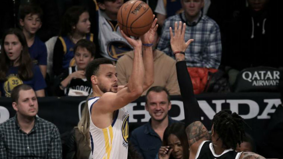 Nuevo récord en la NBA: Thompson metió 14 triples