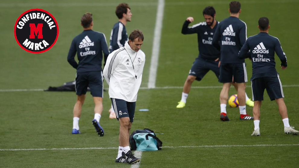 Shock at Lopetegui's presence on the training pitch