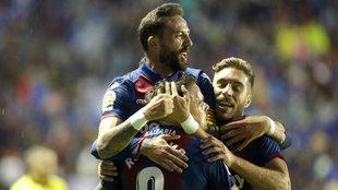 Levante y Lugo se miden hoy en Copa del Rey. En la imagen, el Levante...