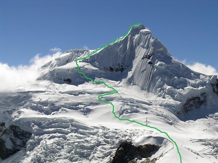 El Tocllaraju, con el descenso que hizo Ana Salvador marcador en...