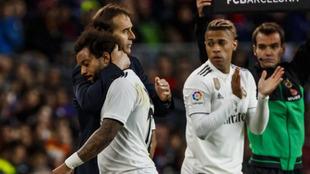 Mariano suple a Marcelo en el Camp Nou