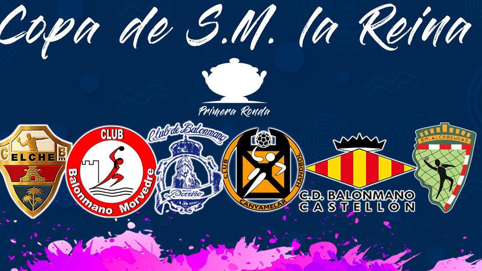 Los seis clubes clasificados para la segunda ronda de la Copa de la...