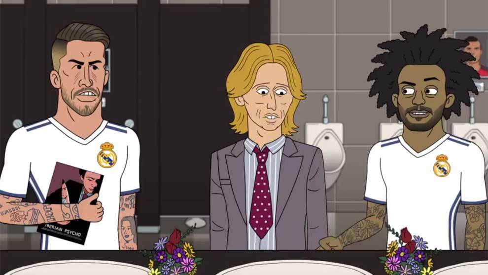 Sergio Ramos, Modric y Marcele en un nuevo capítulo de 'This is the...