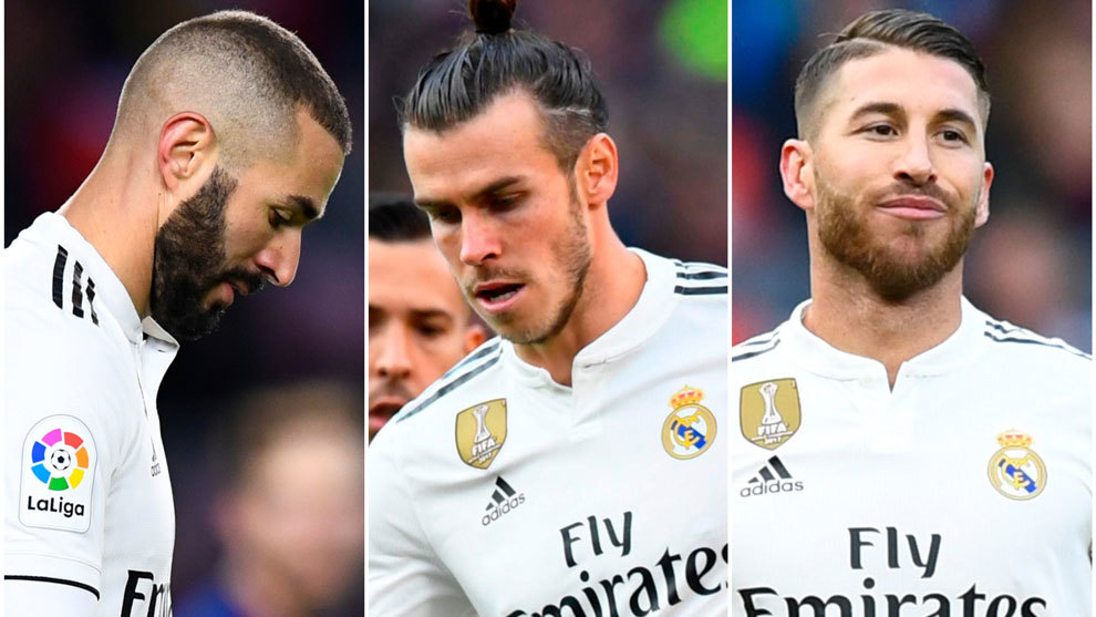 Benzema, Bale and Ramos highlighted by the fans as most guilty players