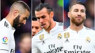 Benzema, Bale y Ramos los principales señalados por la afición.