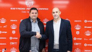 Monteagudo presentado con el Lugo.
