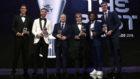 Florentino, en la gala The Best con Varane, Ramos, Modric, Marcelo y...