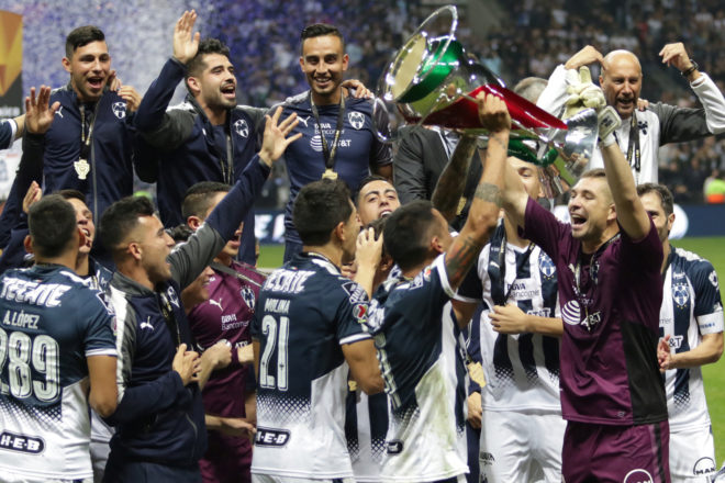 Rayados festeja el título del 2017.