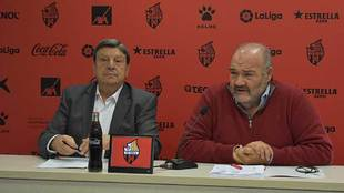 El presidente Xavier Llastarri y el máximo accionista Joan Oliver...