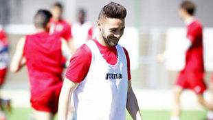 Adrián Mancebo durante un entrenamiento