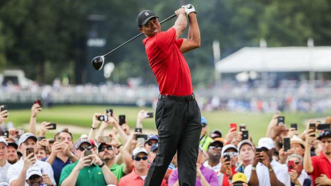 Tiger Woods en el Tour Championship de 2018.