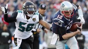 Dante Fowler captura a Tom Brady en la final de la AFC de la temporada...