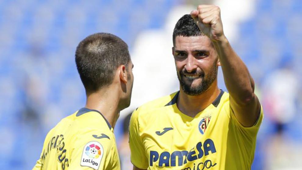 Álvaro, en un partido del Villarreal.