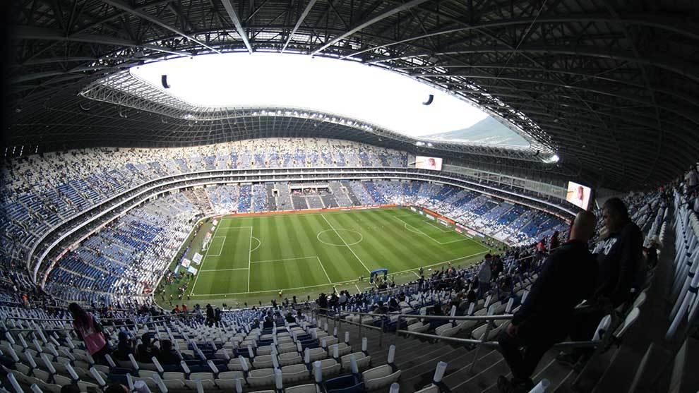 Panorámica del Estadio BBVA Bancomer previo a un partido de Liga Mx.