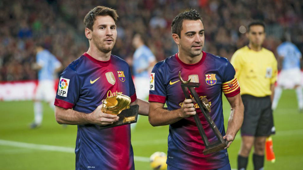 Laliga Santander Fc Barcelona Xavi Hernandez Messi Can Play Until He S 40 He Is Incomparable Marca In English