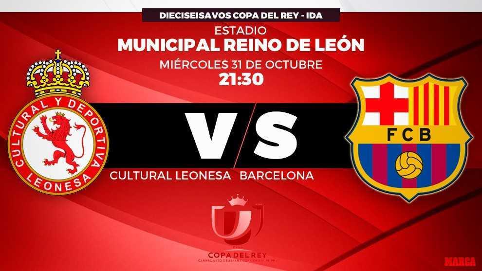Copa Del Rey Cultural Leonesa Vs Fc Barcelona Horario Y Donde Ver Hoy En Tv El Partido De Copa Marca Com
