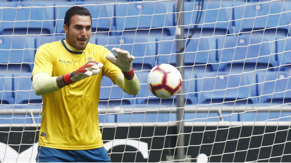 Roberto, durante un entrenamiento en la Ciudad Deportiva.