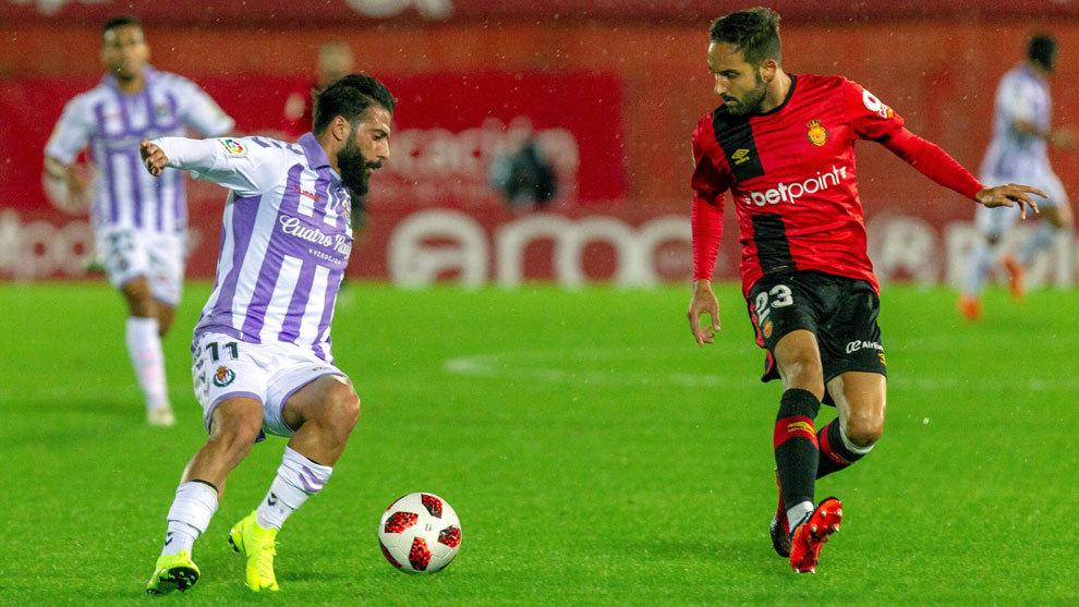 Verde durante el partido ante el Mallorca.