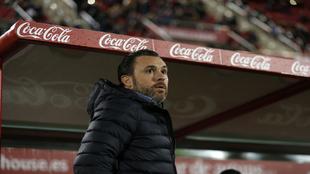 Sergio González durante el partido ante el Mallorca.