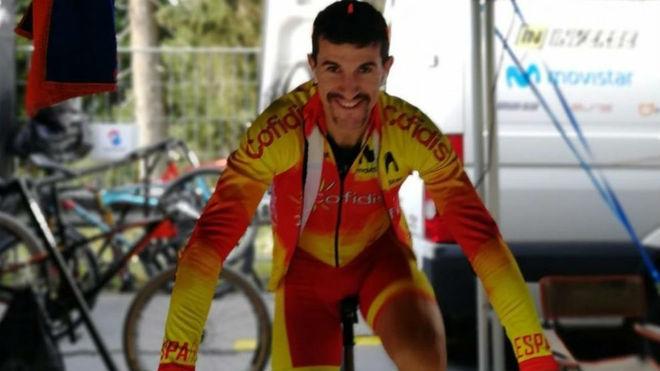 Carlos Coloma, con la selección española.
