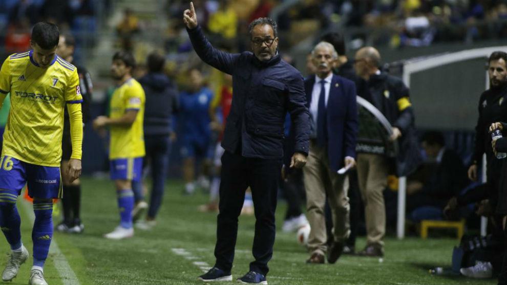 Cervera durante el partido ante el Espanyol.