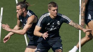 Bale y Kroos, durante un entrenamiento.