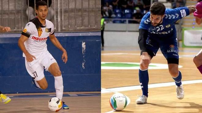 Thalles y Nacho Pedraza, jugadores del Industrias y el Viña Albali.
