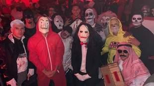 Los jugadores del Bayern celebraron Halloween con una fiesta de...