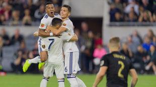 Real Salt Lake celebra su triunfo ante LAFC