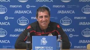 Bernardo Tapia, durante su comparecencia ante los medios de...