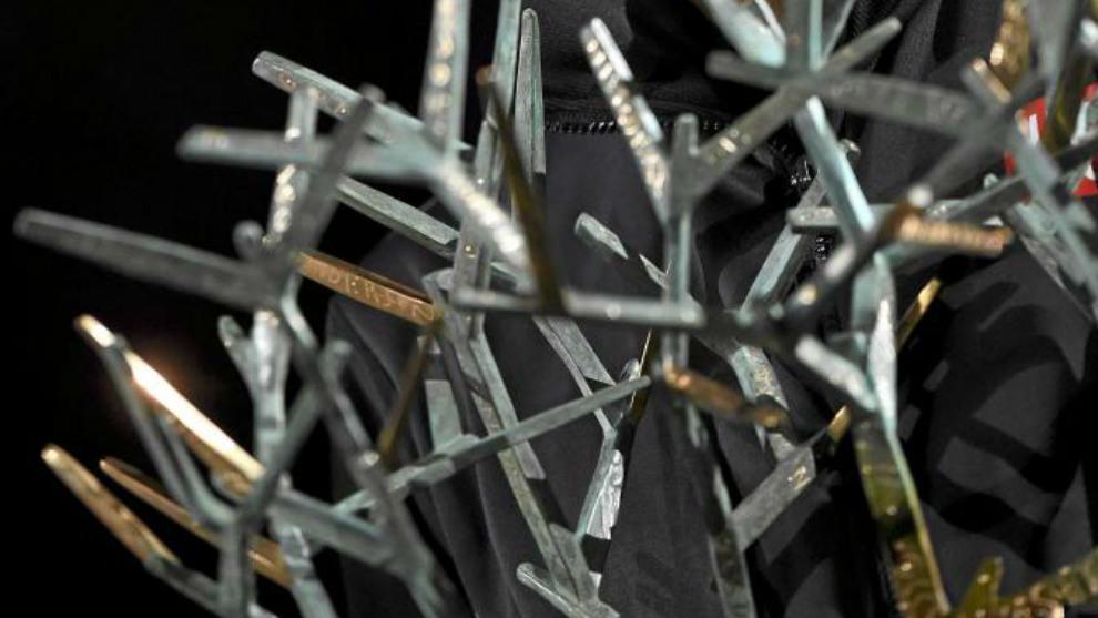 El 'árbol otoñal' que constituye el trofeo al campeón del Masters...