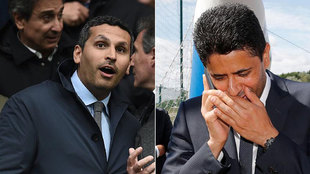 Khalddon Al Mubarak (presidente del Manchester City) y Nasser...