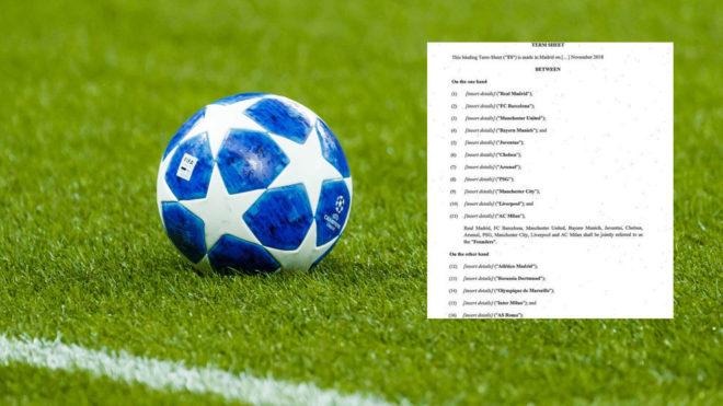 There is already agreement between 16 major European football teams.