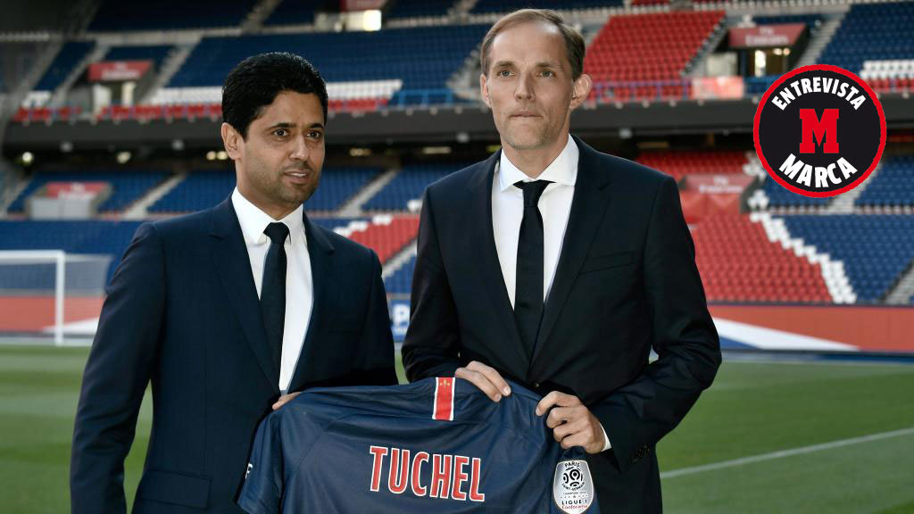 Nasser Al Khelaïfi and Thomas Tuchel.