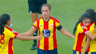 Lizette Rodríguez celebra su doblete ante Gallos Blancos