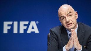 Infantino en un acto de la FIFA