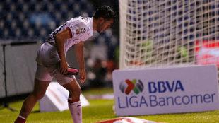 Gael Sandoval durante el partido ante el Puebla.