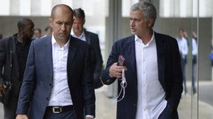 Jardim y Mourinho dialogan en la sede de la UEFA.