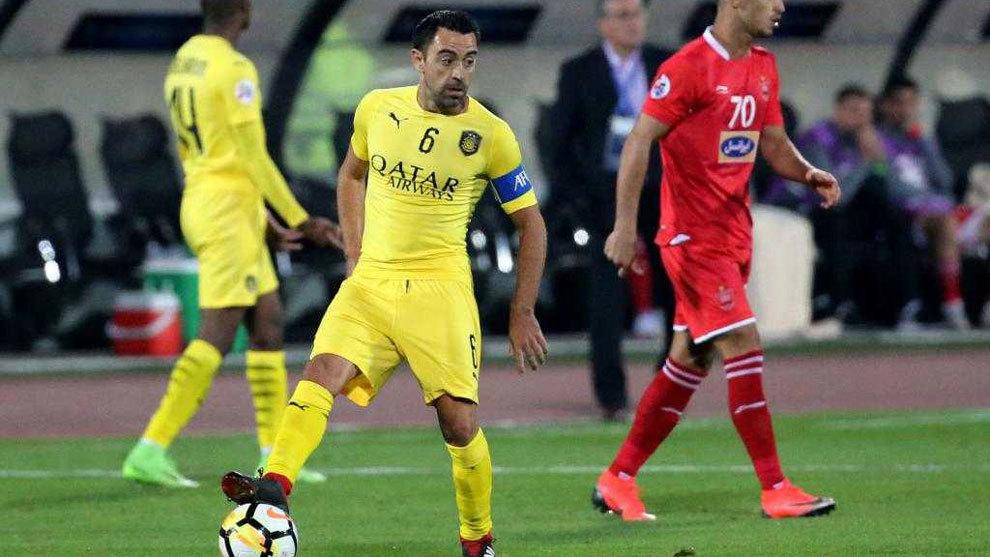 Xavi Hernández en un partido con el Al-Sadd.