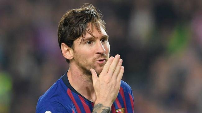 Messi celebra uno de los goles ante el Sevilla.
