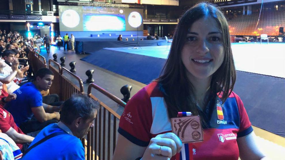 Laura Palacio, con el bronce europeo de 2018