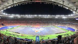 El estadio de Kiev en la última final de Champions.