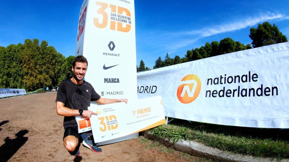 Borja Aragoneses, ganador de la prueba organizada por la San Silvestre...