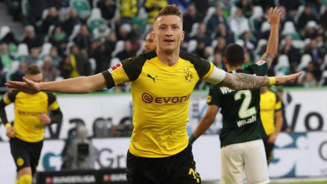 Reus celebra su gol al Wolfsburgo.