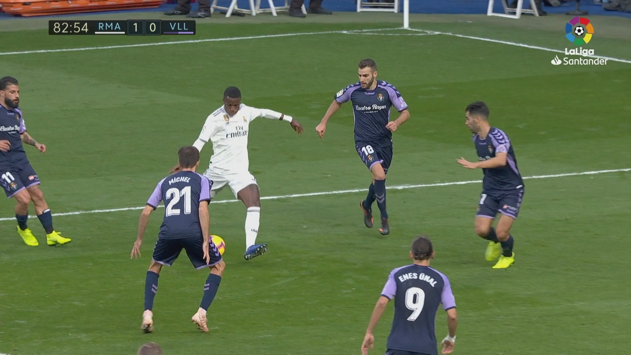 Vinicius provoked the own goal that opened the scoring against Real...
